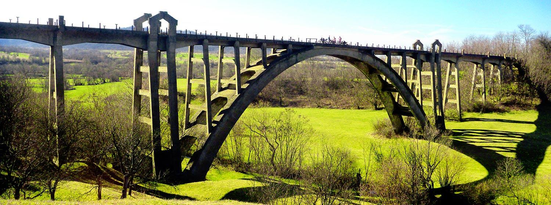 Viaductul Podul Ilii Calea ferata Fagaras - Brasov